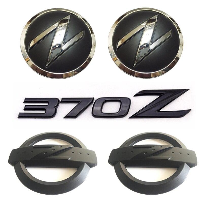 1セット(5x)黒3D 370 Zシンボル車体フロントリアサイドエンブレムバッジステッカー370ZフェアレディZ Z34ロゴvoiture avec un z