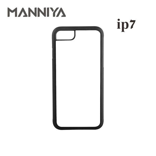 ᗑManniya 2d mejor sublimación en blanco TPU + PC caso para iPhone 7 ...