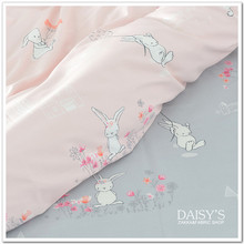 250cm x50cm 60s rabbit Sateen Cotton Cloth, Diy Bedding Sheets Fitted Pillowcase Fabric Soft Comfortable Cartoon 320g/m
