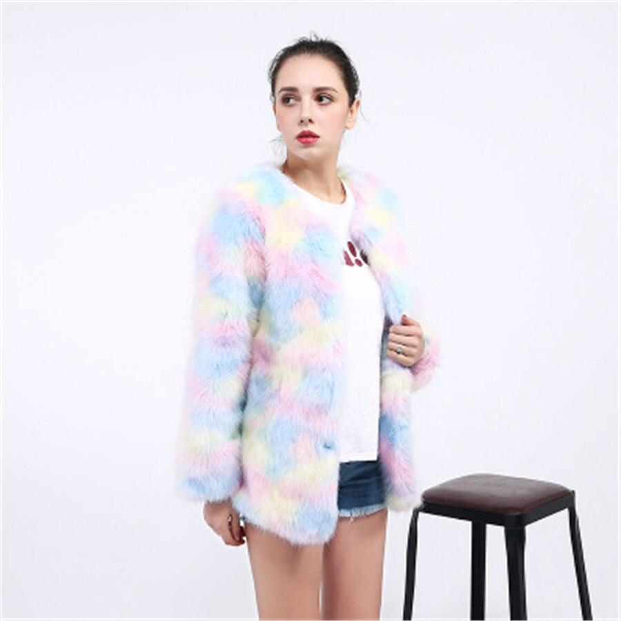 Volpe Rainbow Di Fascia S Grandi Della Cappotto prodotti Nuova Modo Signore 2019 Vestiti Donne 4xl Alta Qualità Dimensioni Delle I Color Caldo Colore Pelliccia IpIxBXFw