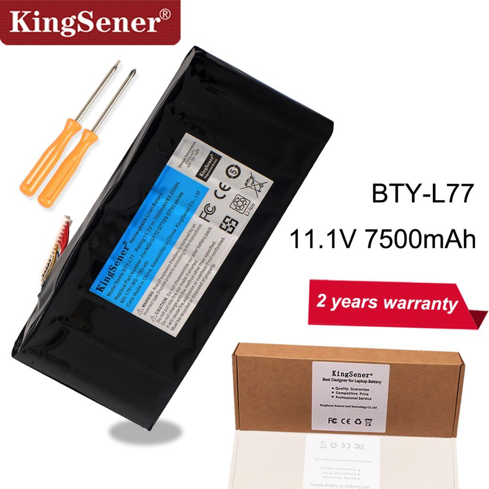 KingSener BTY L77 Laptop Battery For MSI GT72 2QD GT72S 6QF GT80 2QE GT80S WT72 MS 1781 MS 1783 2PE 022CN 2QD 1019XCN 2QD 292XCN-in Laptop Batteries from Computer & Office