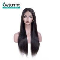Бразильские прямые парики из человеческих волос, парики с кружевными передними волосами, предварительно сорванные натуральные черные # 1B 12