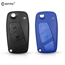 KEYYOU 3 Buttons Replacement Flip Folding Remote Car Key Shell Case For FIAT Punto Ducato Stilo Panda Auto Key With SIP22 Blade