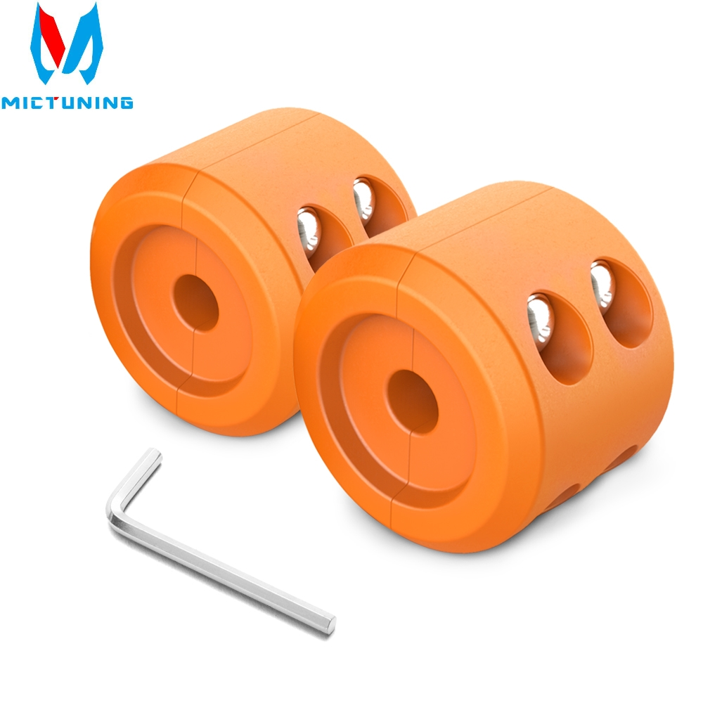 New 2Pcs Winch Cable Hook Stopper Waterproof Durable Rubber Winch Rope Line Saver With Allen Wrench For ATV UTV Winches Orange