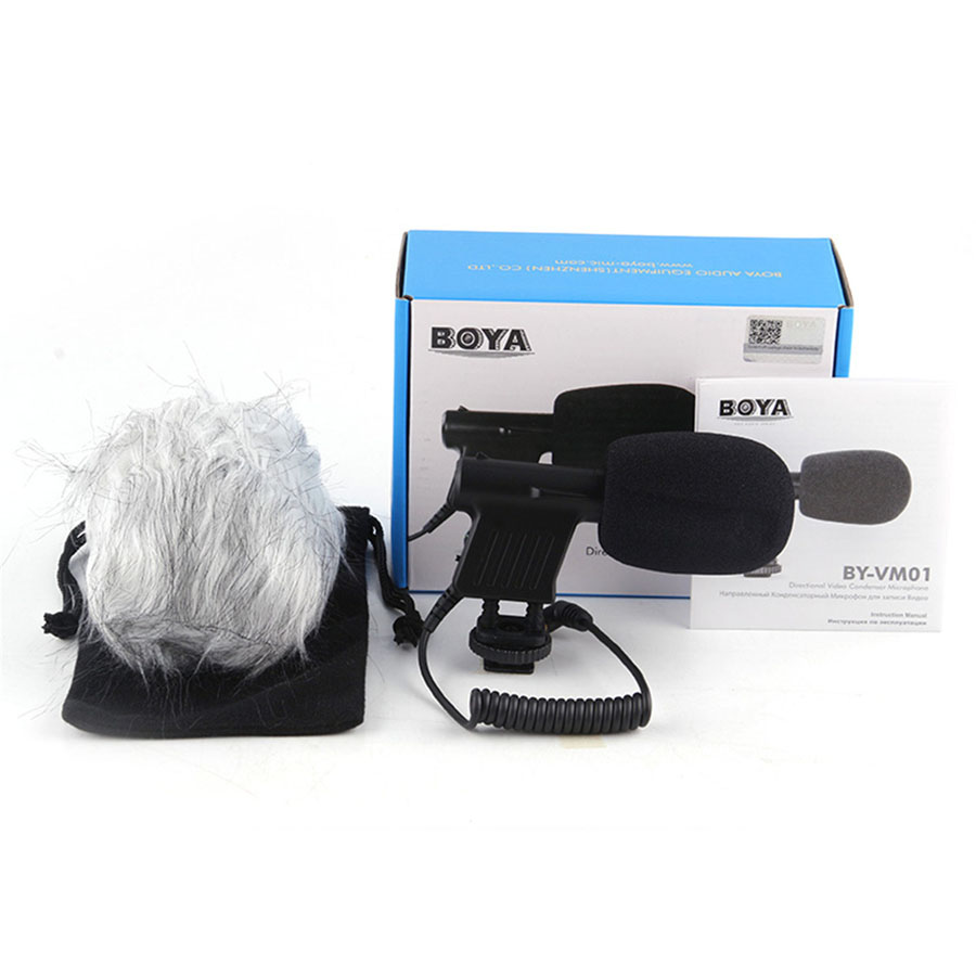 BOYA BY-VM01 Directional Condenser Interview Microphone Professional Phone Video Microphones For DSLR Camcorder Video Camera Mic