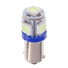 BA9S Bayonet Ice Blue LED 5050 SMD Lamp Instrument Cluster Dash Light Bulb