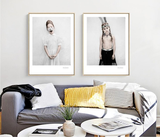 Aliexpress.com : Buy Nordic Simple Weird Girl Paintings Paint Canvas ...