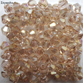 Venda Popular Luz Cores 100 pcs 4mm Contas Bicone Áustria Cristal charme Contas de Vidro Solto Spacer Bead para DIY Fazer jóias