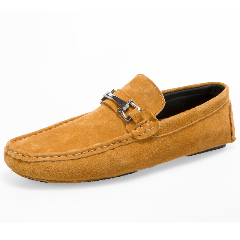 Fashion Genuine Leather Men's Loafers Spring Summer Men Flats Soft Breathable Male Driving Shoes Slip On 2017 New Fashion 2017 new fashion summer spring men driving shoes loafers real leather boat shoes breathable male casual flats