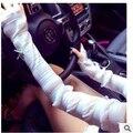 Nuevo 2016 de moda de verano de Las Mujeres Anti-Ultravioleta de Protección Solar Del Cordón Elegante Largo de la Manga Brazo Delgado Al Aire Libre Conducción Arm Warmer