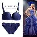 Genuine new European and American original single trade over the United States France embroidered underwear bra set