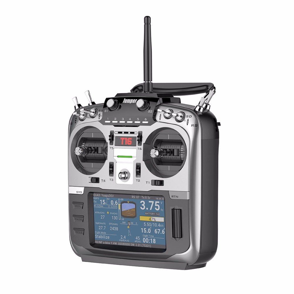 Cavalier T16/T16 Plus Hall cardan Source ouverte multi-protocole émetteur Radio JP4-in-1 Module RF 2.4G 16CH pour Drone de course FPV - 3