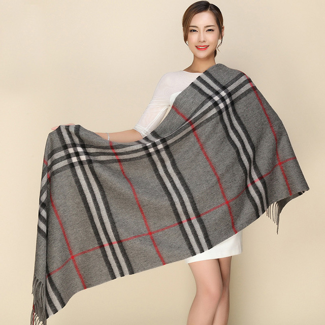 Marca De Luxo cachecol Xales e Wraps Inverno Quente Scarf Mulheres Long Cashmere Poncho Cachecóis Cachecol Feminino Inverno Cachecol Cobertor