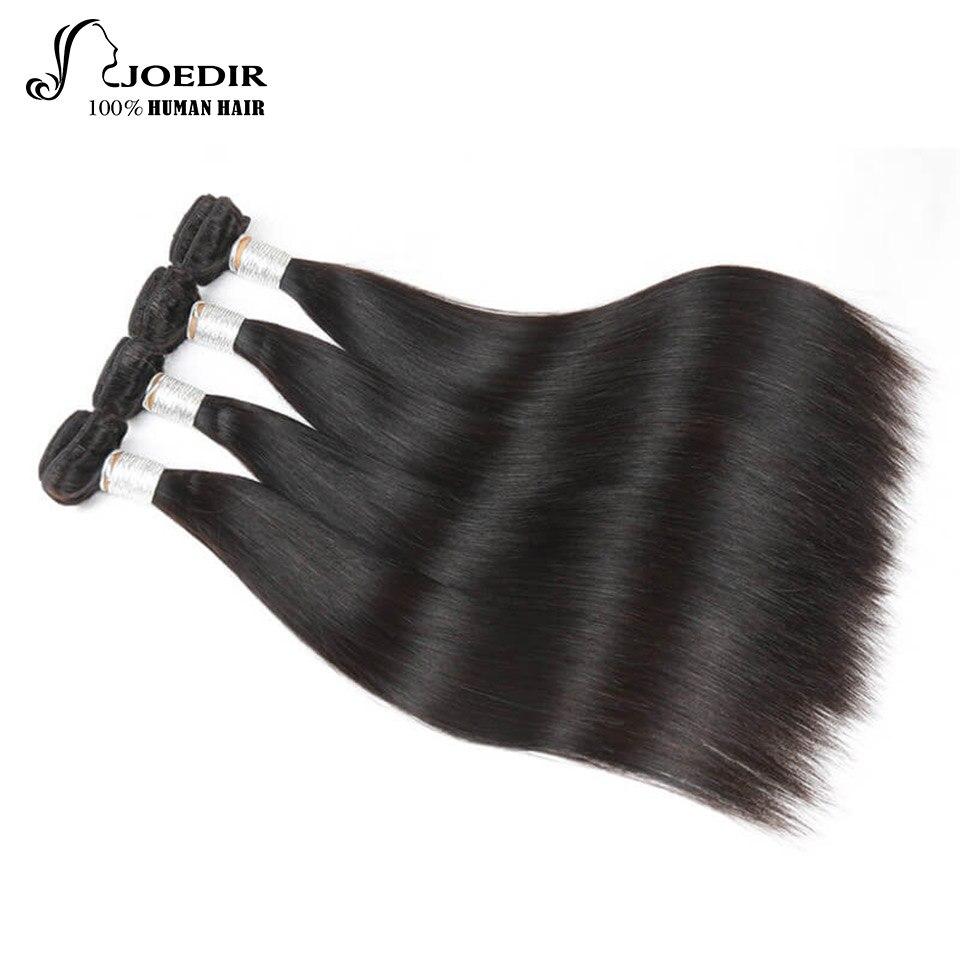 Joedir Pre-colored Peruvian Straight Hair Bundle Deals 3 Bundles 4 Bundles Remy Natural Color Human Hair Weave Bundles