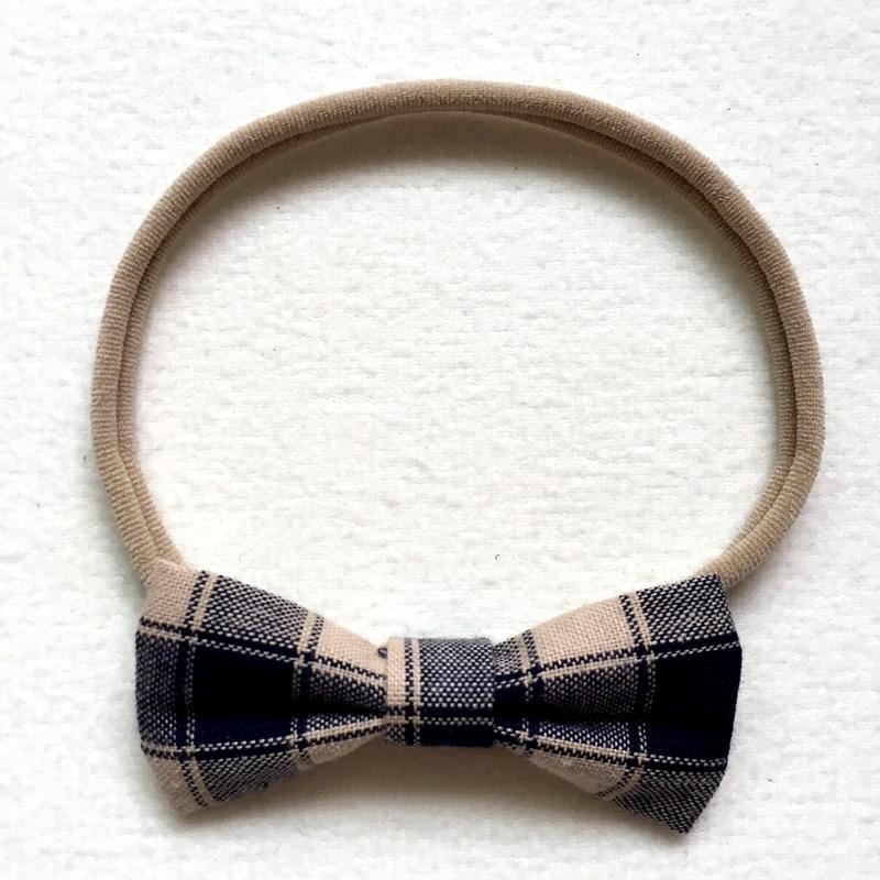 7pcs/lot Handmade Plaid Bow Nylon Headbands Cute Kid Girls headwear Bowknot Headbands hair accessories acessories para cabelo