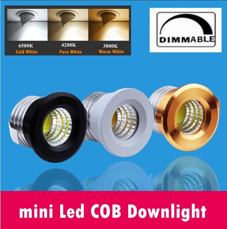 10 шт./лот мини затемнения светодиодный COB светильник 3 Вт Jewelry Дисплей Потолочные Встраиваемые лампы 100 В-240 В мини светильники