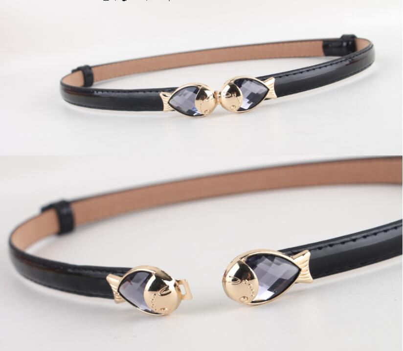 Modest Women Evening Dress Belt Sashes Little Fish Decoration Formal Dress Belts waist size 55-90 cm width 1.5 cm