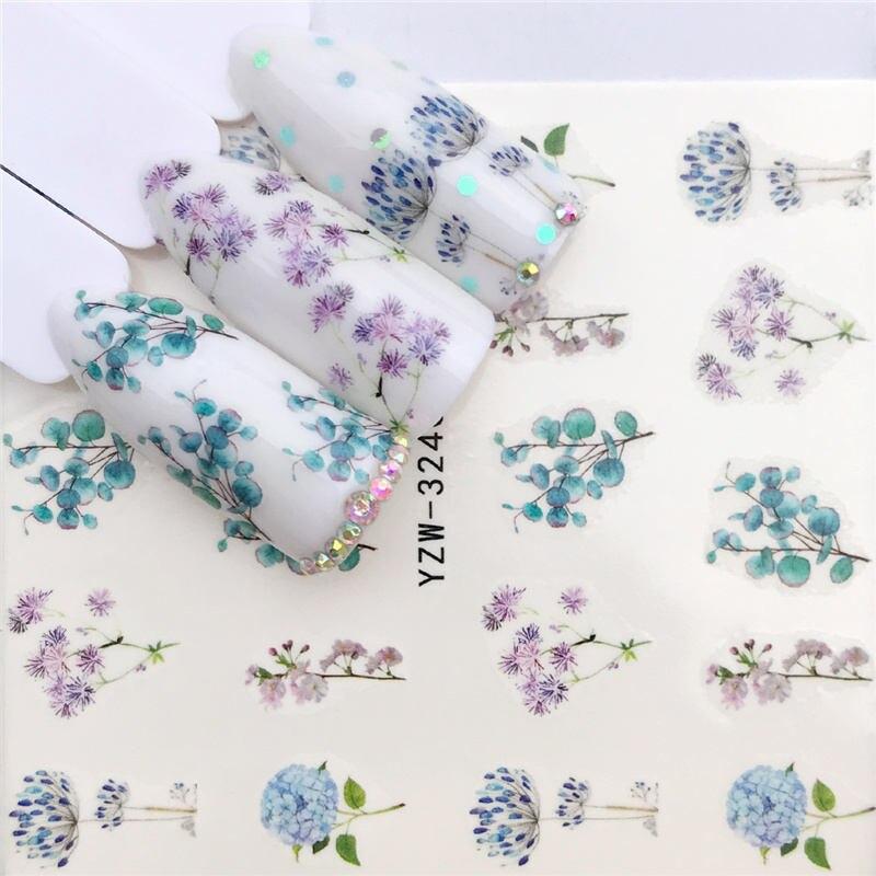 YWK 1 шт. цветок/Животные Дизайн переноса воды стикеры дизайн ногтей наклейки DIY Мода обертывания советы Маникюр Инструменты