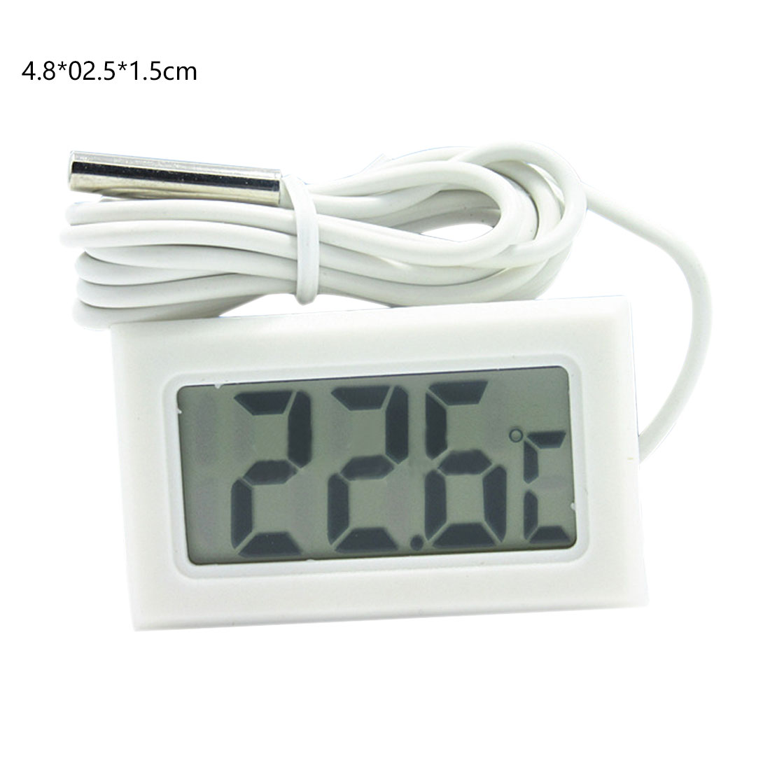 Mini LCD Digital Thermometer Temperature Indoor Temperature Sensor Humidity Meter Gauge Instruments 1 M Cable gold earrings for women