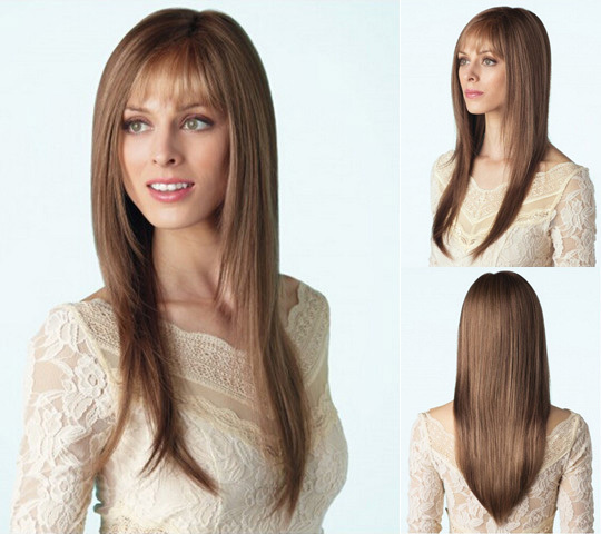Fashion New Women Wig Modern Long Layers Blonde Wigs For Women