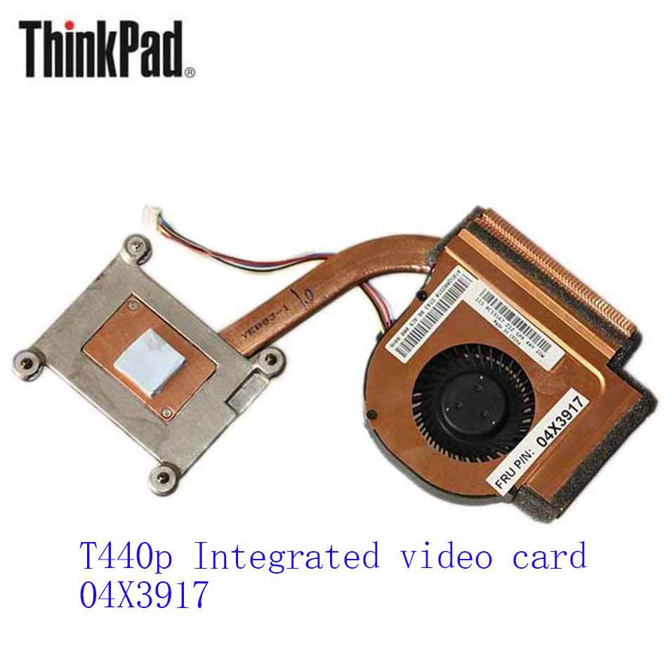 New Original Cooling Fan For Lenovo ThinkPad T440p Integrated video card 04X3917 Cooler Radiator Cooling Fan Heatsink original fan ac220 240v 6c 230absl cooling fan