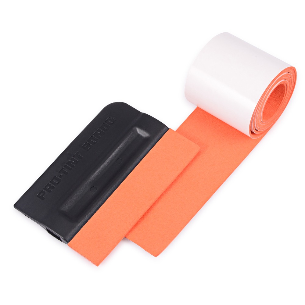 "Pro 4/"" Car Wrapping Felt Squeegee No-Scratch Applicator Window Film Tint Kit US"