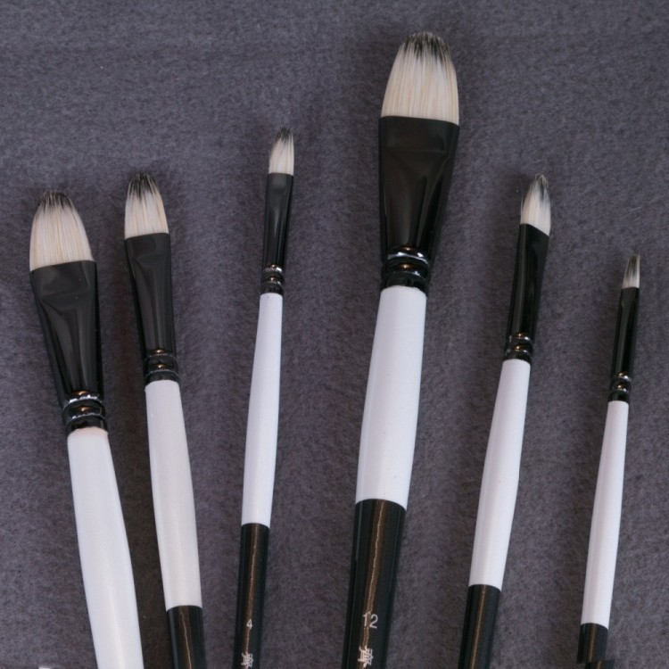 6Pcs/Set Qishuixuan Bristle Blend Oil Painting Brush Thick Hard Brushes To Paint Acrylic Paints For Drawing Artist Paint Brush free shipping 5pcs p13hdmi 413ae in stock