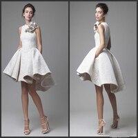 2019 белые кружевные короткие коктейльные платья, вечерние платья для подростков, Элегантные Дешевые платья для выпускного вечера