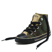 Opoee Kids Children Canvas Shoes Cool Camouflage Lace Up Baby Boy High Tops Fashion Cloth Casual Shoes Students School Shoes