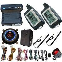 Автоматическая система безопасности автомобиля 2 способа дистанционного режима сигнализации тонкий двигатель старт стоп кнопка Центральн