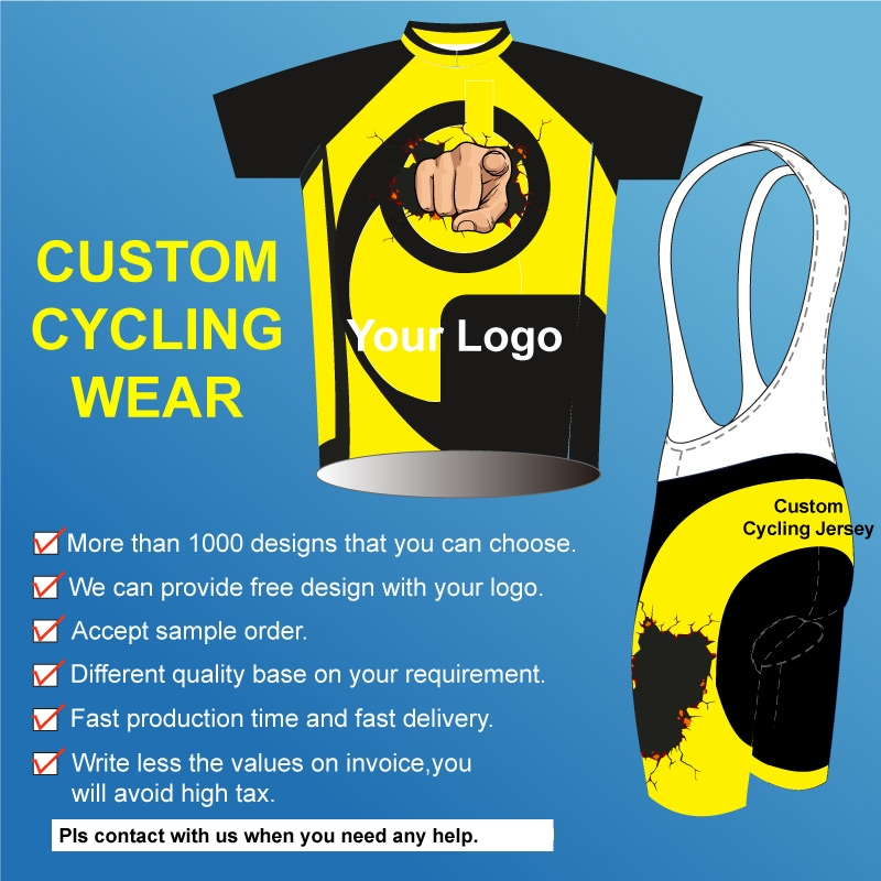 With your band china 2017 custom cycling kit/sublimation bike jersey/custom bicycle jersey and cyclingbib short with your design custom your own logo design palyer s name and number sublimation print men s football team jersey personality customization