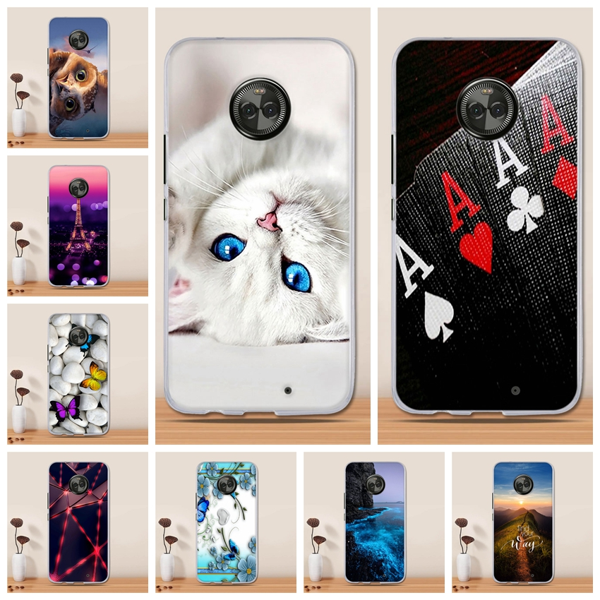 For <font><b>Motorola</b></font> <font><b>Moto</b></font> X4 Case Cover for <font><b>Motorola</b></font> <font><b>Moto</b></font> <font><b>XT1900</b></font> Soft Silicone Pattern Painting Back Cover for <font><b>Motorola</b></font> <font><b>Moto</b></font> X 2017 Case image