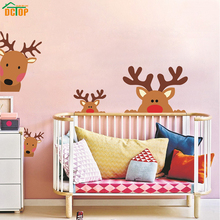 High Quality Cartoon Animal Deer Color Wall Stickers For Kids Rooms Nursery Waterproof Wall Art Declas Wallpaper Home Decoration