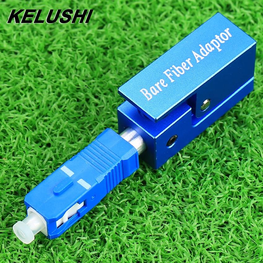 KELUSHI Free Shipping Fiber Optic Adapter Square Type Bare Fiber Adapter SC/UPC Square FTTH Optical Tools