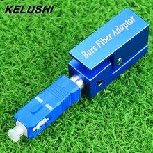 KELUSHI 무료 배송 광섬유 어댑터 사각형 유형 베어 섬유 어댑터 SC/UPC 광장 FTTH 광학 도구