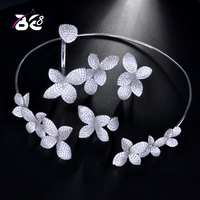 Be 8 2018 AAA CZ Bridal Jewelry Set Dubai Jewelry Sets for Women Round Wedding Jewellery Set Bridal Costume Jewelry S172