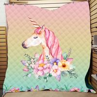 Unicorn Quilted Quilt With 3d Digital Printing And Cotton Summer Quilt With Air Conditioner Washed Directly By Manufacturers