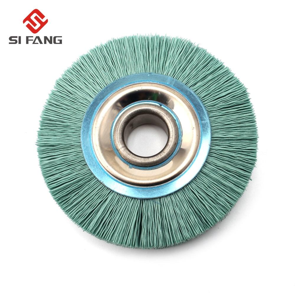 4inch 100mm Abrasive Nylon Wire Wheel 20mm Bore Diameter Polish Bench Grinder 240 Grit