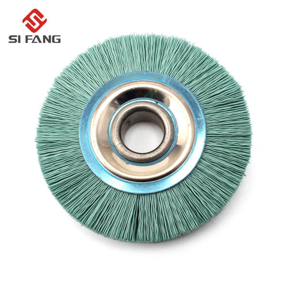 4inch Abrasive Nylon Wire Wheel 20mm Bore Diameter Polish Bench Grinder 240 Grit