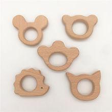 Set of 10pc organic beech wood Furnishing articles bird elephant fish owl dolphin for baby boy