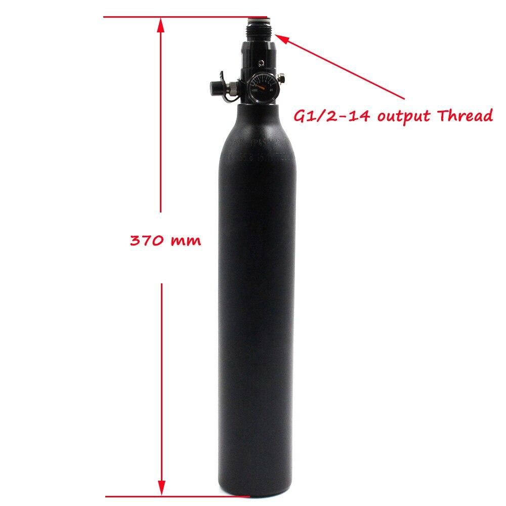 Купить с кэшбэком QUPB PCP Paintball 0.45L 27CI High Pressure Cylinder 4500psi HPA Scuba Tank M18*1.5Thread TKM045