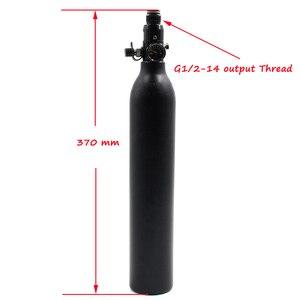 Image 5 - QUPB PCP Paintball 0.45L 27CI Hochdruckzylinder 4500psi HPA Tauchflasche M18 * 1,5 Gewinde TKM045