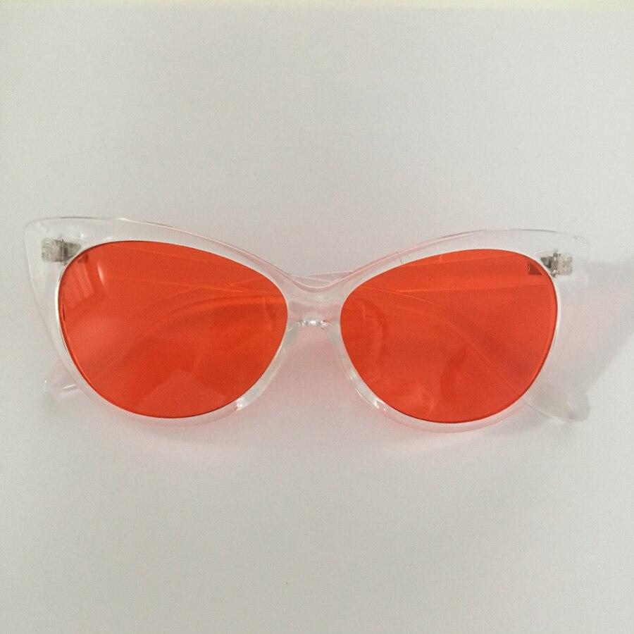 ce05df6beac9bf Coucou transparent cadre lunettes de soleil femmes cat eye candy couleur  summer party pas cher lunettes de soleil pour femmes cat eye uv400 dans  Lunettes de ...