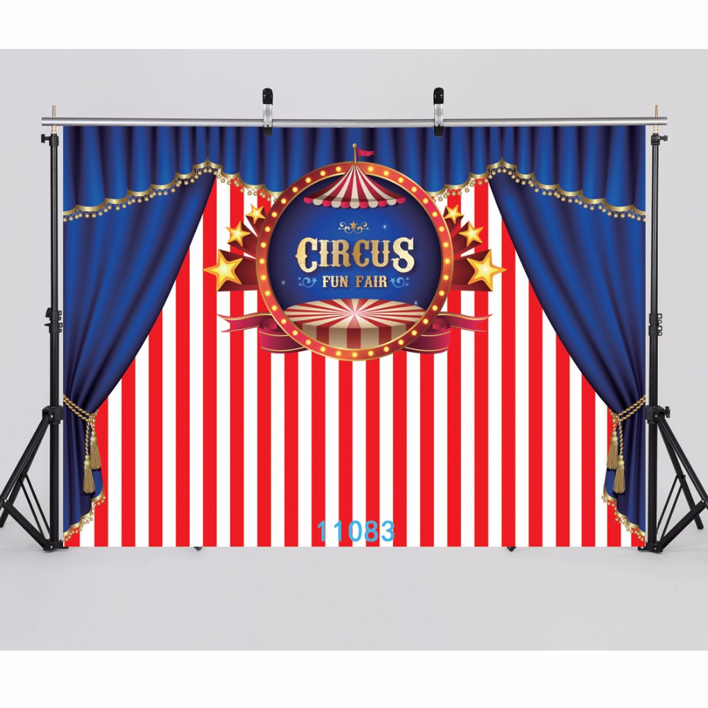 SJOLOON vinyl carnival circus photography background baby and girl birthday party photography backdrops for photo studio props kidniu scenery photography backdrops trees lake photo props wallpaper winter snow vinyl background for studio 9x5ft win1403