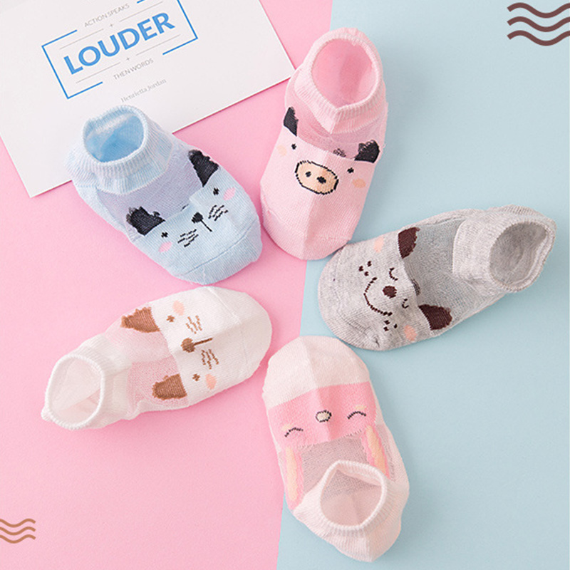 5 Pair=10PCS/lot New Dot Kids Socks Summer Thin Comfortable Breathable Cotton Fashion Baby Socks Toddler Girls for 0~6 Year 4