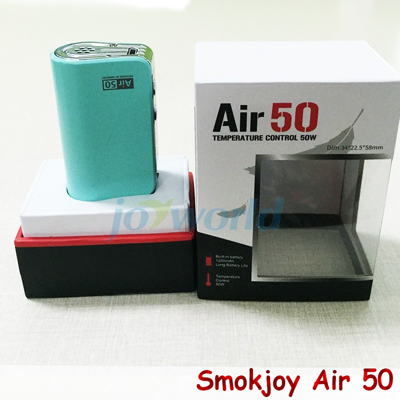 100%Electronic Cigarette Smokjoy Air 50W TC  VW Box Mod 1200mAh Build In Battery 7-50w Tiny Size SmokJoy air 50 VS evod mega YY (8)