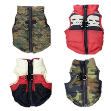 Pet Dog Puppy Vest Jacket Clothing Warm Winter Pet Dog Clothes Coat For Small Medium Large Dogs 4 Colors m-XL
