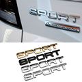 Car Styling 1 X Hot Sports Word letter 3D Chrome Metal Car Sticker Emblem Badge Decal Auto Decor Stickers 3 Colors