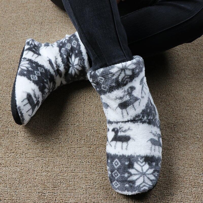 Winter Schuhe Frau Zu Hause Hausschuhe Weihnachten Elch Indoor ...