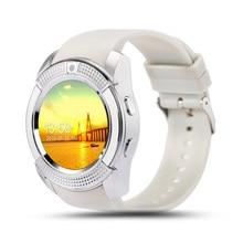 Смарт-часы Для женщин/Для мужчин часы телефон для Android V8 Bluetooth Smart Часы Smartwatch Водонепроницаемый можно вставить sim-карту, чтобы вызов